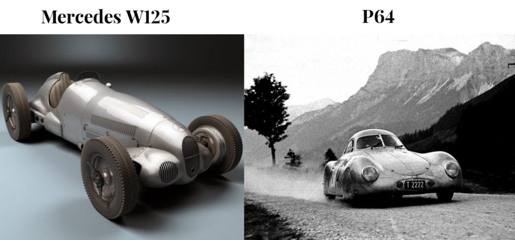 Mercedes W 125 si Prsche P64